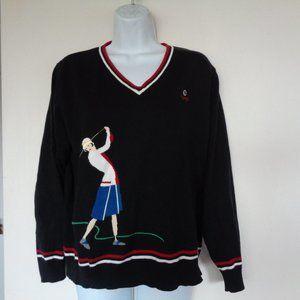 LizGolf Liz Claiborne Woman Golfing Sweater Medium
